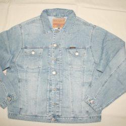 Przeszycia jeans-kurtki ocieplane