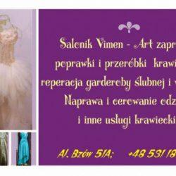 Naprawa odzieży wizytowej i ślubnej