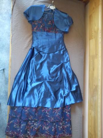 Nebieska suknia Krystyna Wiśniewska